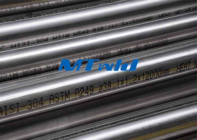 Heat Exchanger Stainless Steel Welded Tubing Custom ASTM A249 304L / 316L