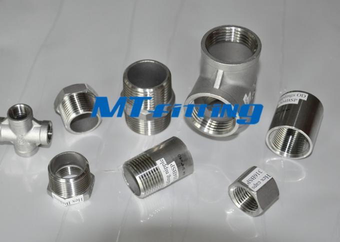 Chemical Industry Flanges Pipe Fittings ASTM A403 TP321 / 317 Stainless Steel Tee