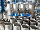 Stainless Steel WP304L / 316L Butt Welded Flanges Pipe Fittings ASTM A815 Reducing Tee