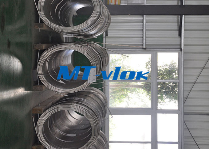 ASTM A213 / A269 S30400 / S31600 Stainless Steel Coiled Tubing / Stainless Steel Coil Pipe